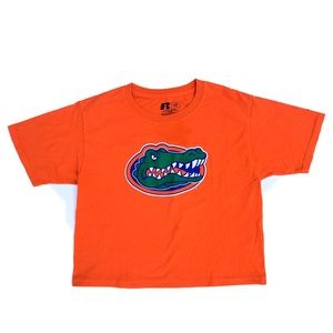 Florida State Gators Orange Crop Top T Shirt Women